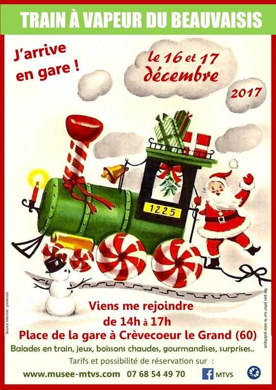 train du pere noel 16 et 17 Décembre 2017: Trains du père noël   MTVS Le musée des  train du pere noel
