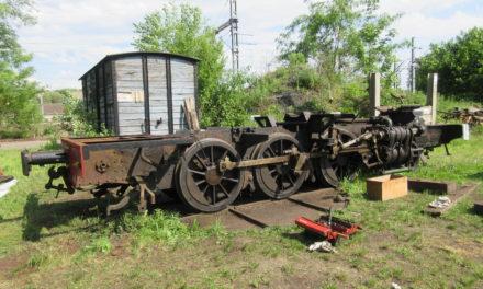 La locomotive Decauville travaux à Butry
